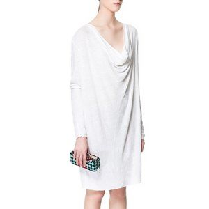 100% Linen W&B Zara Collection Draped T-shirt